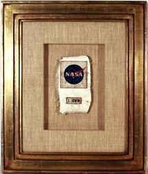 536:Jim Irwin NameTag NASA Patch & PLSS Piece
