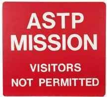 678: ASTP MISSION - VISTORS NOT PERMITTED