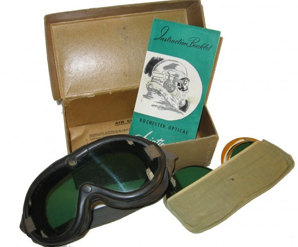4: World War II Era Rochester Optical Pilot Goggles