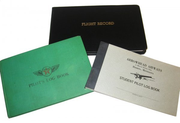 6: Collection of Vintage Pilot Log Books