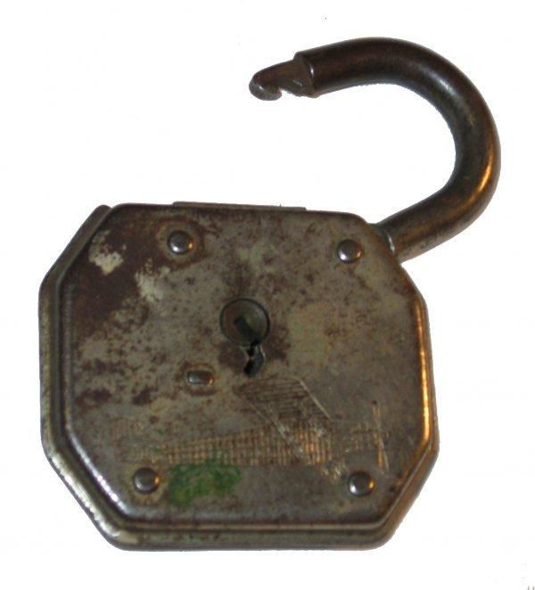 "14: Padlock with ""Sprit of St. Louis"" Image"
