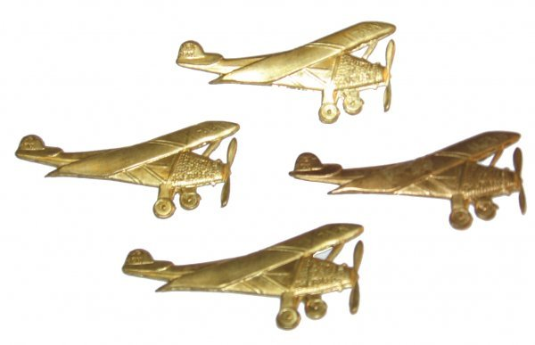 "15: Lot of 4 Metal Lindbergh ""Spirit of St. Louis"""