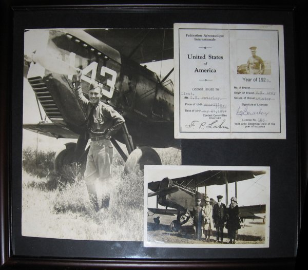 22: Gen George H. Beverley Signed FAI PIlot License