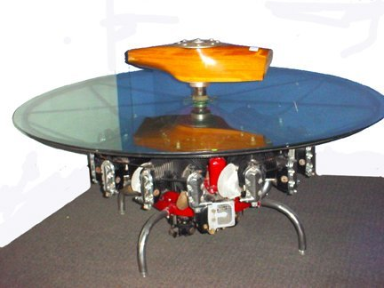 Continental Motors R670-5 Engine Coffee Table