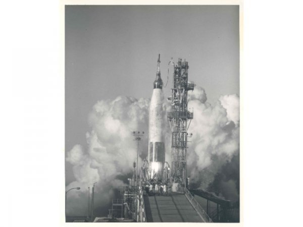 13: Lot of Two Atlas Rocket Photographs