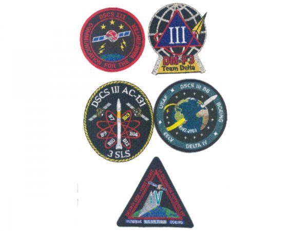 18: Lot of 8 Delta Rocket Launch Team, Payload, etc. Pa
