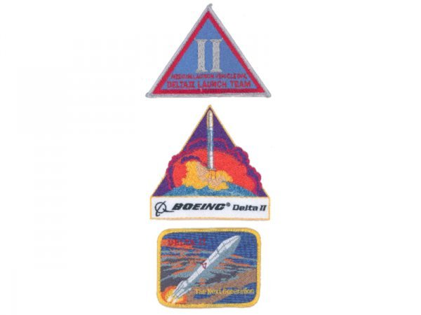 20: Lot of 3 Delta Launch Team Patches