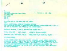 346: Apollo 11 Original NASA Teletype 4 Pg Mission Rept
