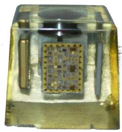 361A: Apollo 11 Comm Chip Collins Radio Paperweight