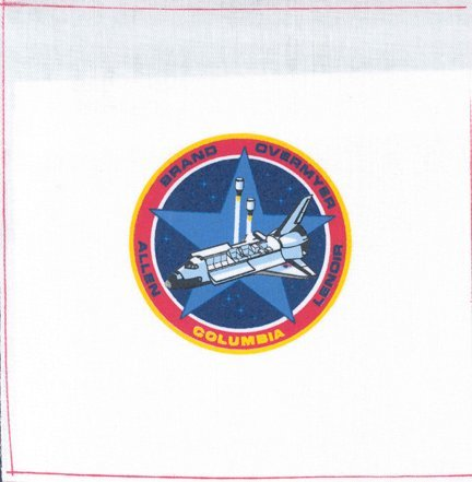 791: STS 5 Mission Emblem on Coated Canvas