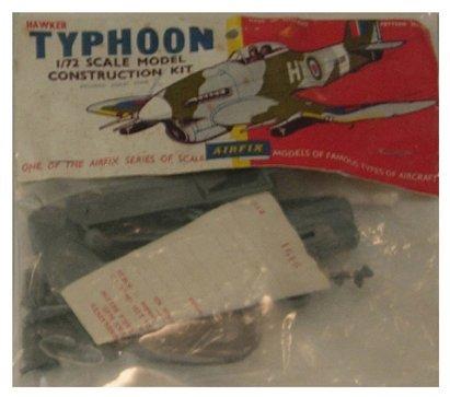 2014: Airfix 1950's Hawker Typhoon 1:72 Plastic Model K