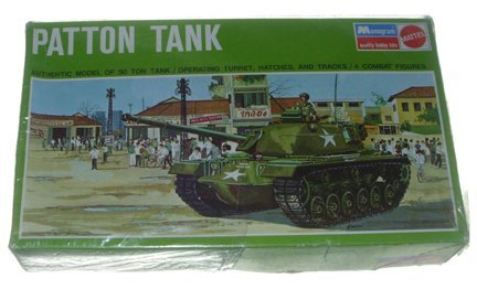2502: Monogram 1966 Patton Tank Plastic Model Kit Manuf