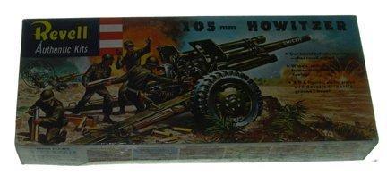 2504: Revell 1963 105mm Howitzer Plastic Model Kit Manu