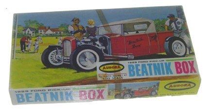 2507: Aurora 1962 1929 Ford Pickup Beatnik Box 1:32 Pla