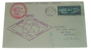 6A:  $2.60 Stamp On First Flight Graf Zeppelin Cover