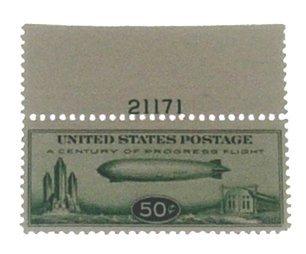 10: US 1933, 50c Zeppelin Stamp Scott No. C18