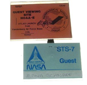 15: Atlas Rocket RCA Contractor's Launch Access Badge