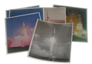 19: Lot of 6 Early Saturn Rocket Photographs
