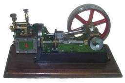 "722: Stuart #9 Steam Engine Model (11 x 6 x 6"")"