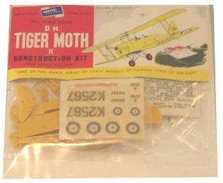 2004: Airfix 1950's D.H. Tiger Moth II Plastic Model Ki