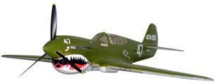 10441A: Lg Model WWII Curtiss P40D Kittyhawk