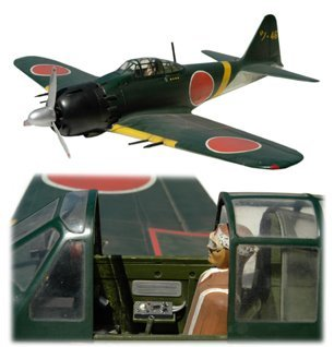 10441D: Lg Model WWII Mitsubishi A6M3 Zero Plane