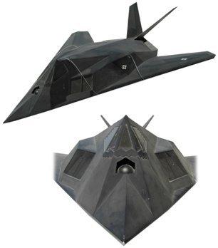 10459A: Lg Model F-117 Stealth Fighter Plane
