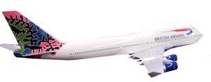 10470A: 1:36 Scale Model Boeing 747 BA Jet