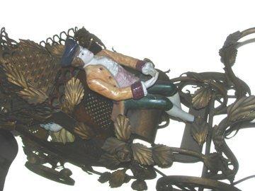 10700: Brass Lamp 18th Century Carriage