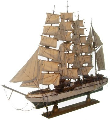 10707: Lg Wooden Scale Model Schooner