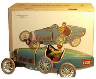 19185: Paya 970 Bugatti Clockwork  Tin Toy