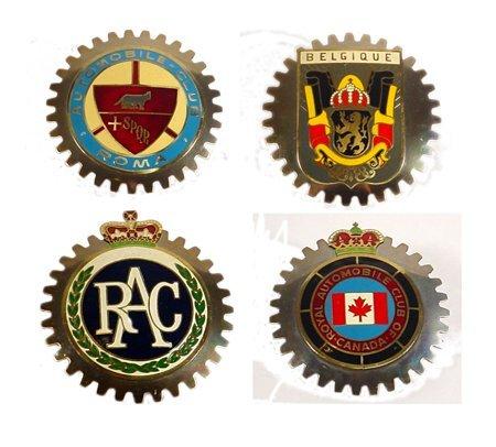 2: 4 Vintage Enameled Car Badges Vintage car