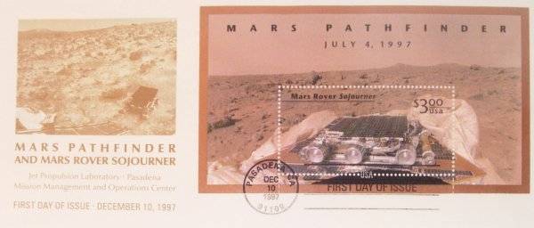 6: Mars Pathfinder First Day of Issue Cover