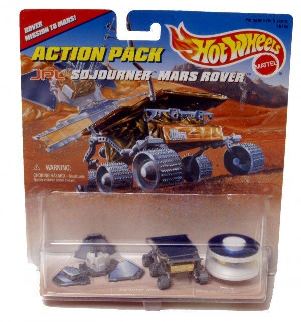 6A: Lot of 5 Mattel Hot Wheels Lander & Rover Toys
