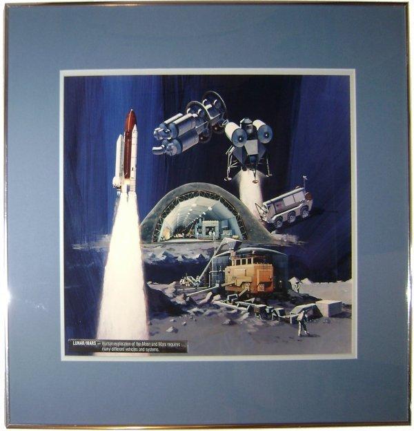 7: Mars and Moon Exploration Concept Artwork