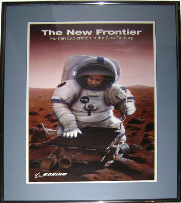 """8: Boeing """"The New Frontier"""" Human Exploration Poster"""