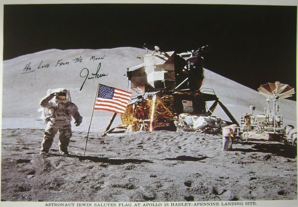 467: Apollo 15 Astronaut James Irwin Autograph