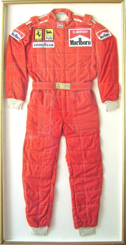 7020: Gerhard Berger Formula 1 Team Ferrari Racing Suit