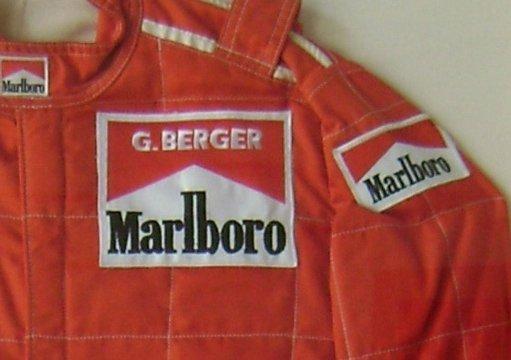 7020: Gerhard Berger Formula 1 Team Ferrari Racing Suit - 2