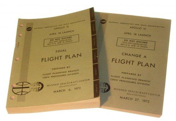 486:NASA  Apollo 16  Launch Final Flight Plans