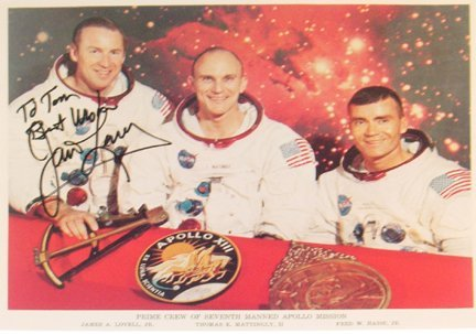 431A: Apollo 13 Astronaut James Lovell Autograph