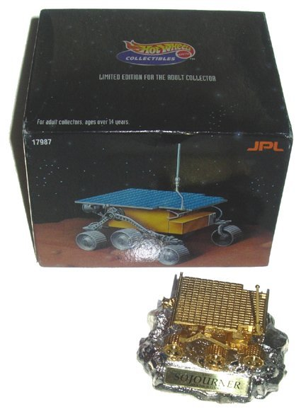 6B: 24K Gold-Plated Hotwheels Sojourner Mars Rover