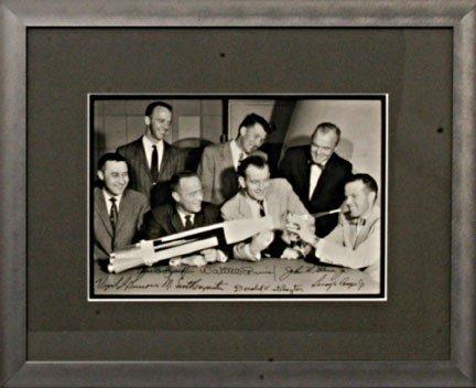 5: All 7 Mercury Astronauts Autographs Scott Carpenter,