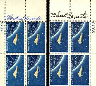 6: All 7 Mercury Astronauts Autographs Scott Carpenter,