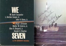 8: Carpenter Glenn Shepard Slayton Mercury Autographs S