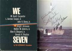 8 Carpenter Glenn Shepard Slayton Mercury Autographs S