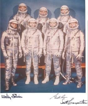 9: Cooper Carpenter & Schirra Mercury 7 Autographs Gord
