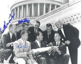 Cooper Carpenter & Schirra Mercury 7 Autographs Gor