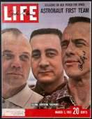 12 John Glenn and Alan Shepard Mercury Autographs on t