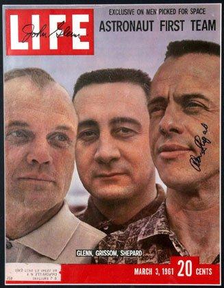 12: John Glenn and Alan Shepard Mercury Autographs on t
